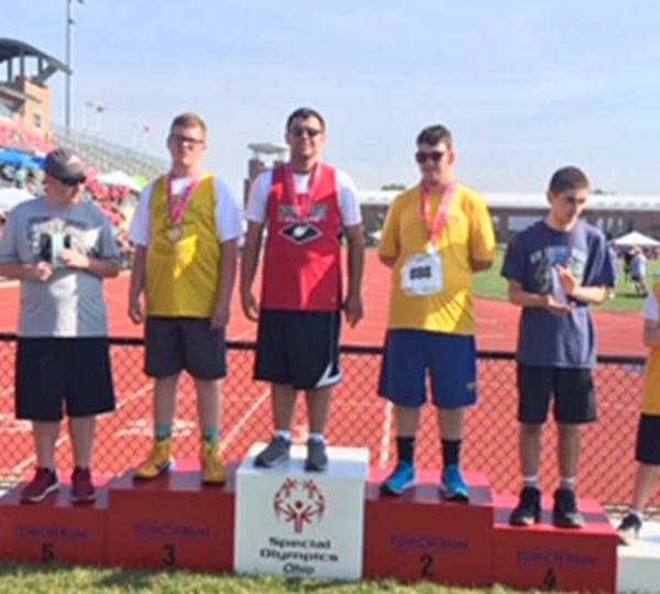 Local Special Olympics competitors.