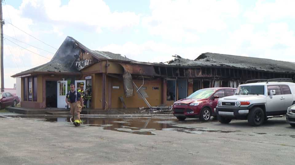 Fire in Summit Plaza in Canfield, RP Motors, Toula's Bridal, Sunkiss Tanning