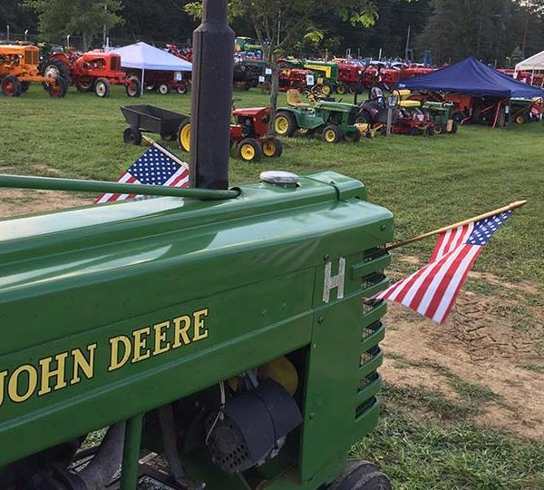 Antique Tractor Club of Trumbull County showing off vintage farm equipment, tractors
