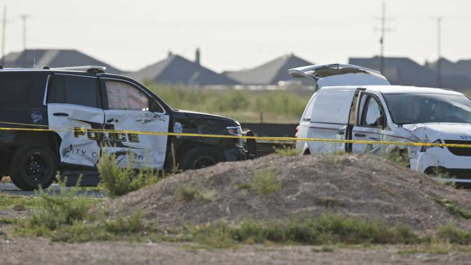 Vehicles involved in West Texas shooting rampage