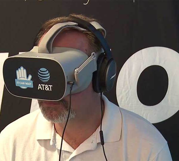 A Virtual Reality display at the Canfield Fair aims to show fairgoers how dangerous it is to text and drive.