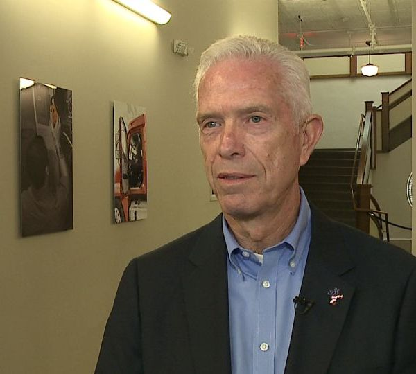 Rep. Bill Johnson talks about gun laws in East Liverpool, Ohio.
