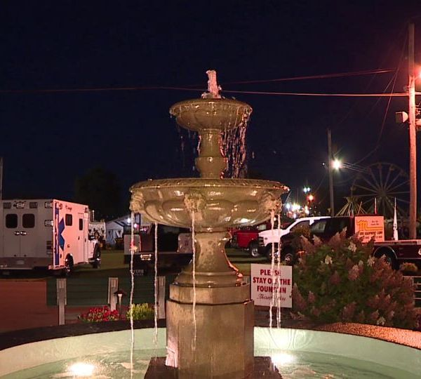 The Canfield Fair fountain has been restored