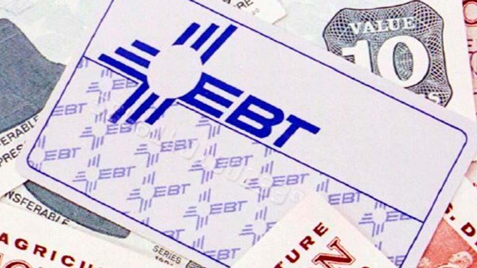 An EBT, Electronic Benefit Transfer, card.