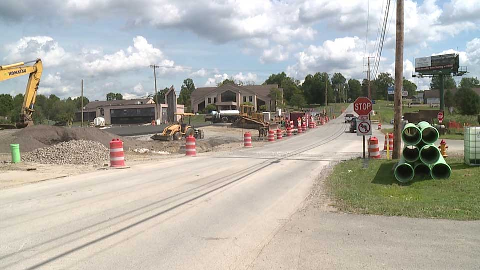 The Mahoning County Engineer said the project to build a round-about along Western Reserve Road is making progress and on schedule.