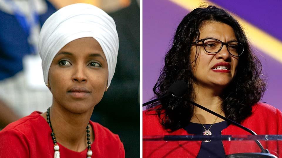 Representatives Ilhan Omar and Rashida Tlaib.