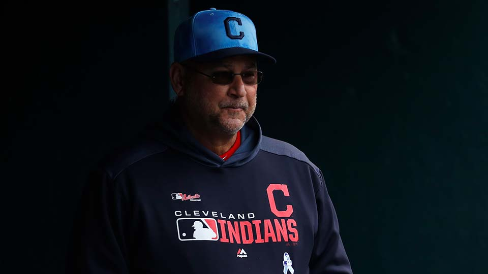 Cleveland Indians manager Terry Francona watches in the eighth inning of a baseball game against the Detroit Tigers.