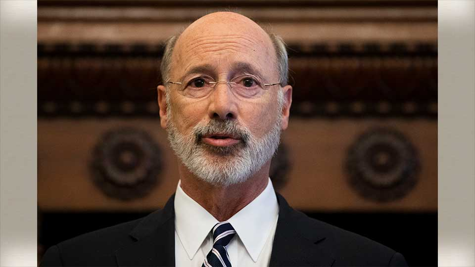 Gov. Tom Wolf speaks during a news conference at City Hall in Philadelphia, Thursday, Aug. 15, 2019. A gunman, identified as Maurice Hill, wounded six police officers before surrendering early Thursday, after a 7 ½-hour standoff.