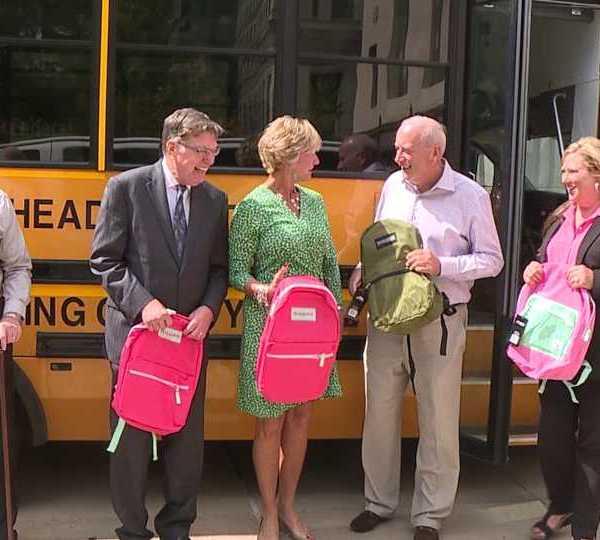 United Way, Huntington Bank, Stuff a Bus event raises almost 1,000 backpacks