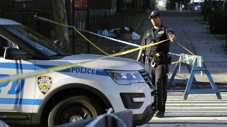 Fatal shooting of a police officer in the Bronx borough of New York