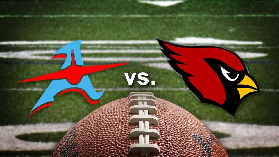 Alliance Aviators vs. Canfield Cardinals, high school football.