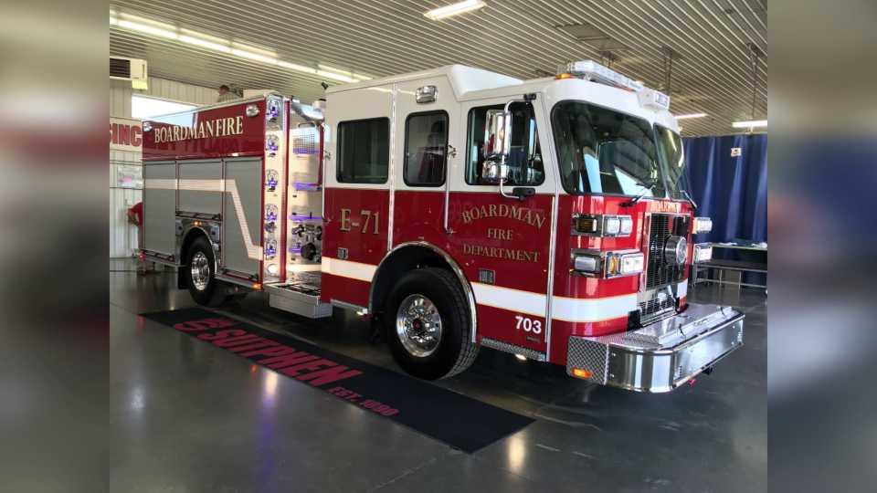 Boardman Fire Department gets new engine