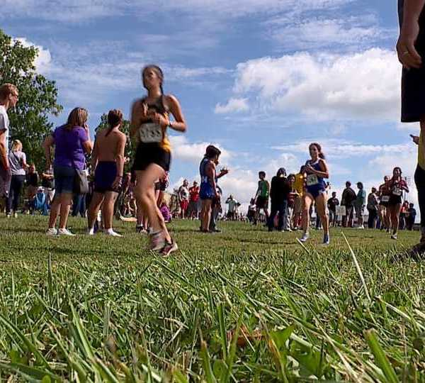 Athletes run at the Boardman Spartan Cross Country Invitational.