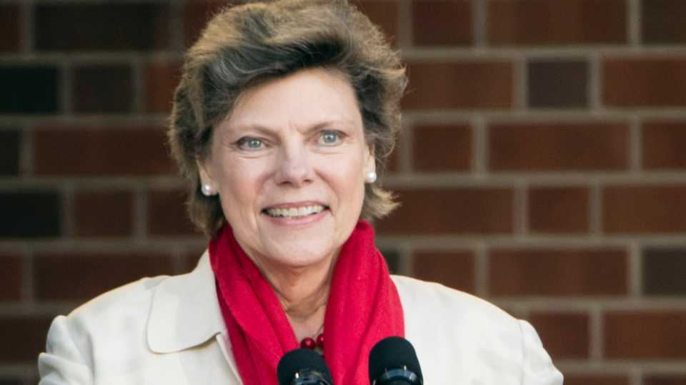 FILE- In this April 19, 2017, file photo, Cokie Roberts speaks during the opening ceremony for Museum of the American Revolution in Philadelphia. Roberts, a longtime political reporter and analyst at ABC News and NPR has died, ABC announced Tuesday, Sept. 17, 2019. She was 75.