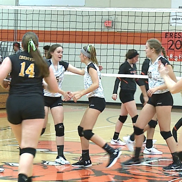 The Rebels swept Newton Falls Wednesday to remain undefeated on the season.