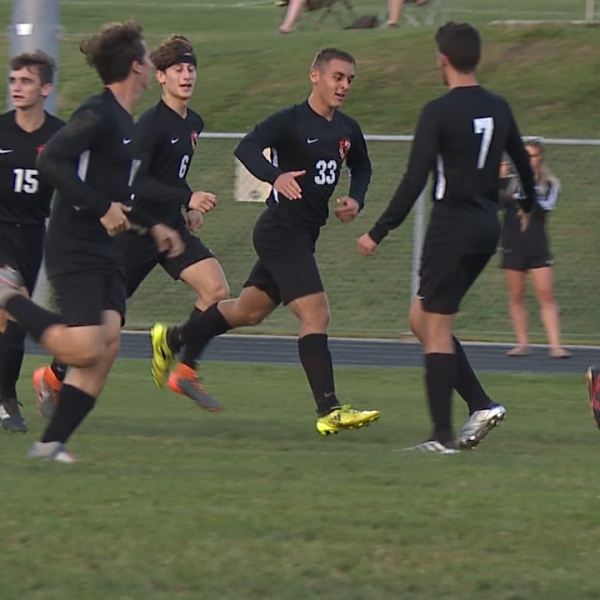 The Tigers beat the Spartans, 3-1 Tuesday in their final game on their grass field before moving to the high school's new turf
