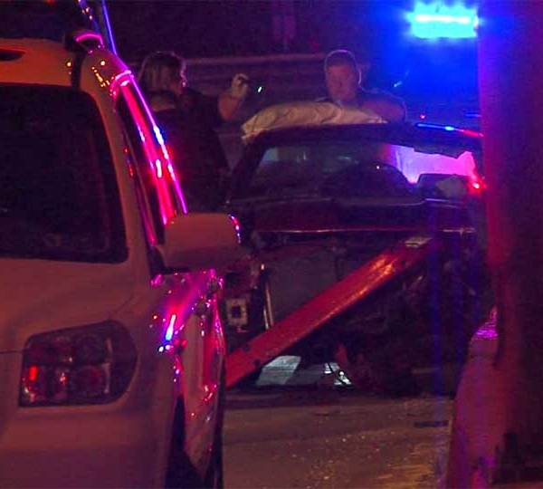 Police responded to a call of an accident on I-680 southbound around 1:30 a.m. Saturday.