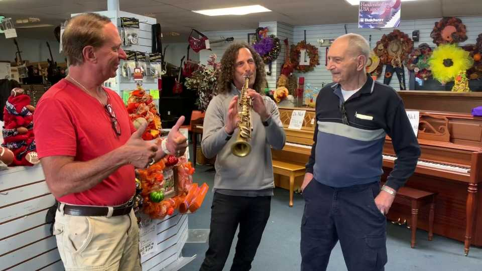 Kenny G. uses Champion music store.
