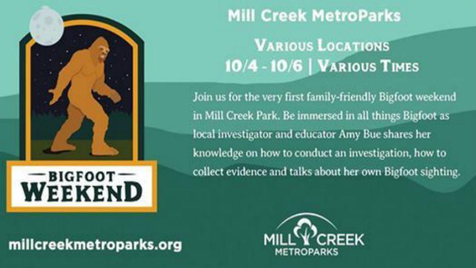 Bigfoot family weekend at Mill Creek Park