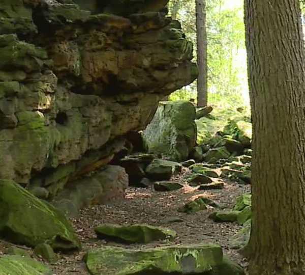 Boulders behind Bears Den in Mill Creek Park, Youngstown