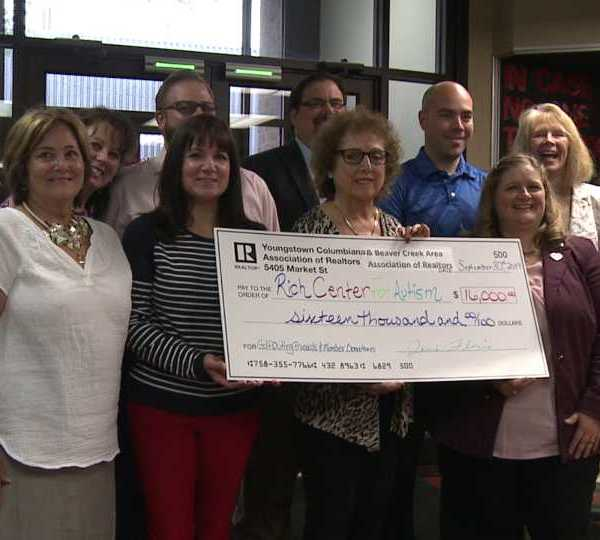 Rich Center for Autism receives a donation for $16,000 for capital campaign.