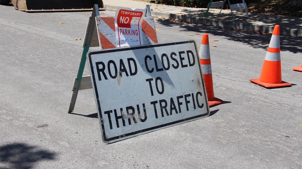 Road closed construction generic