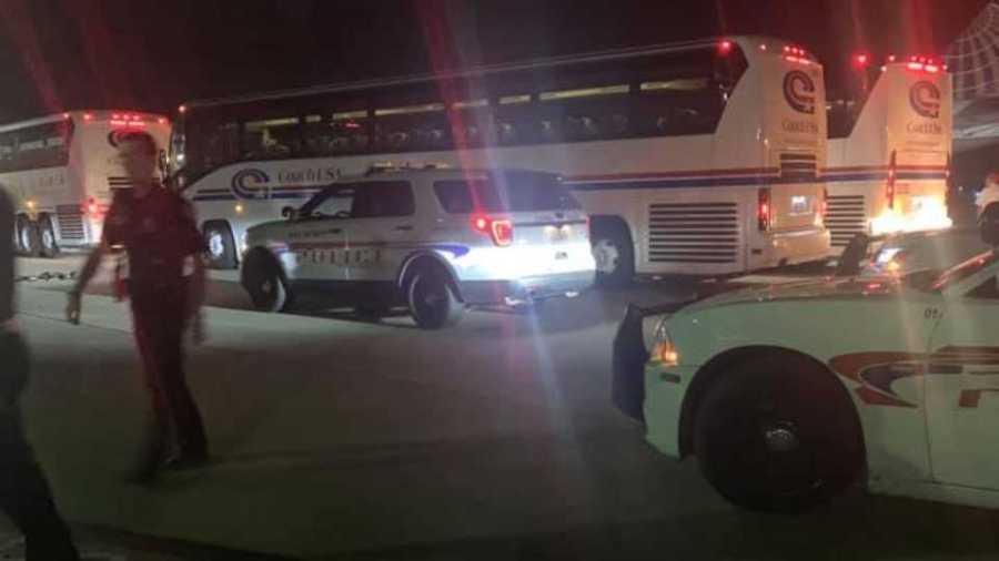 Vienna police escort San Francisco 49s