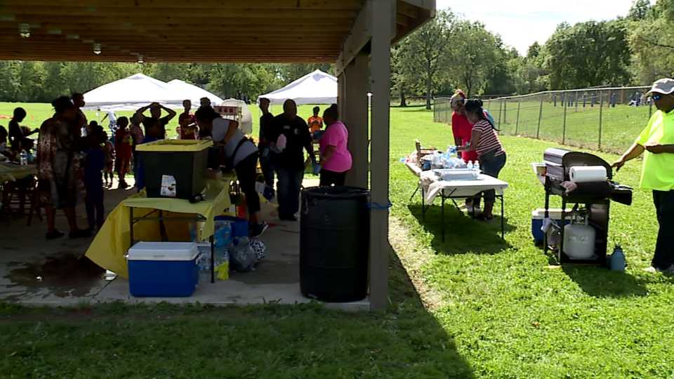 Community fun day for residents in Warren.