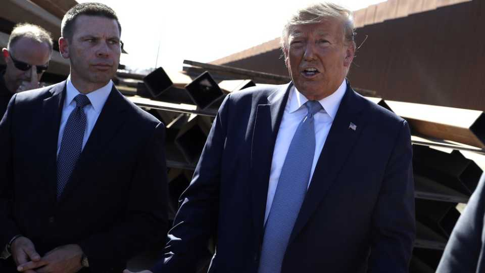 Kevin McAleenan and Donald Trump