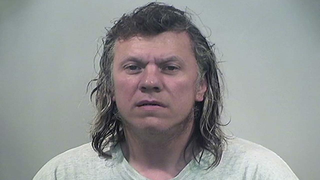 Albert Stefek, charged with criminal trespass and menacing in Warren, Ohio.