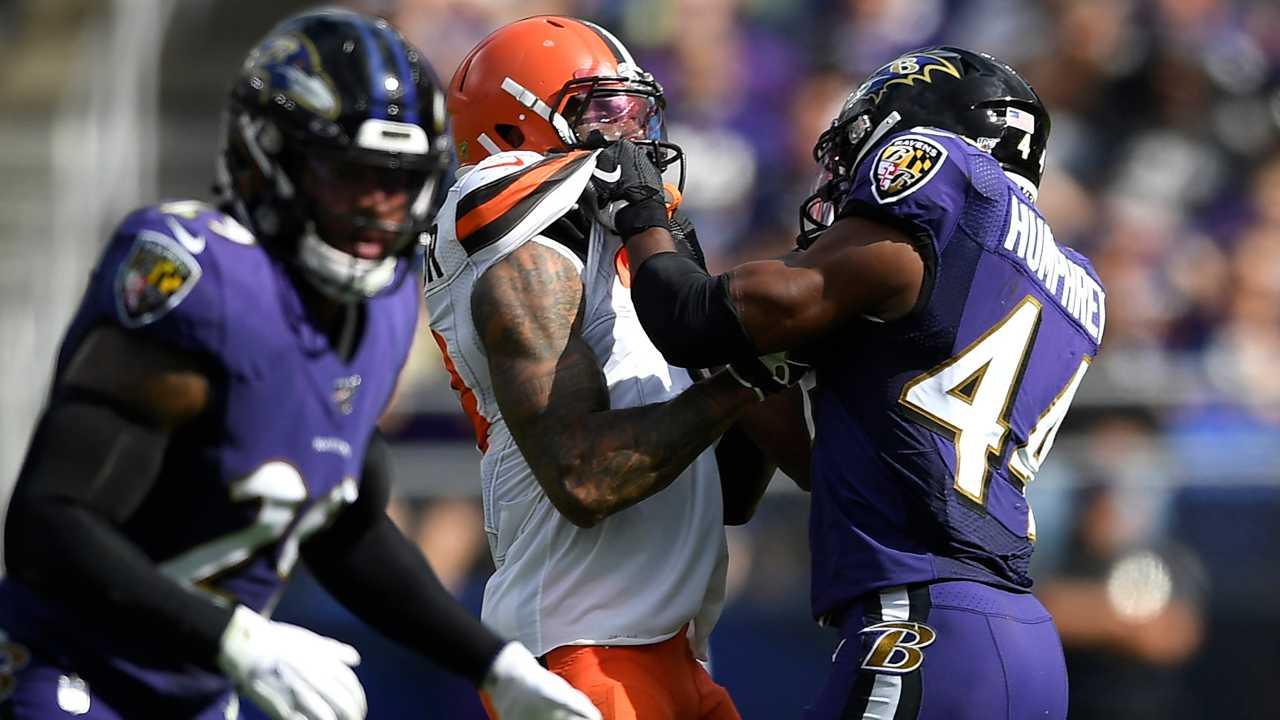 Beckham, Humphrey, Cleveland Browns, Baltimore Ravens fight