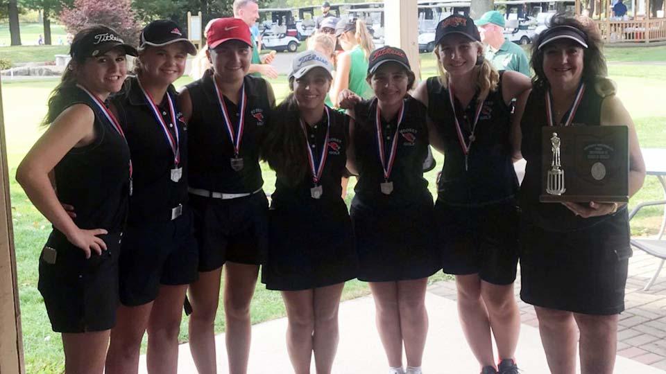 Cardinal Mooney Girls Golf district winning