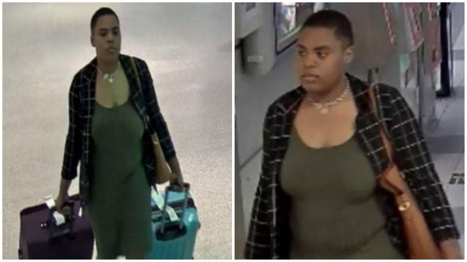 Luggage theft suspect in Cleveland, Ohio