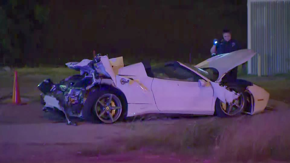 A high profile was injured in a Ferrari crash in Dallas, Texas.
