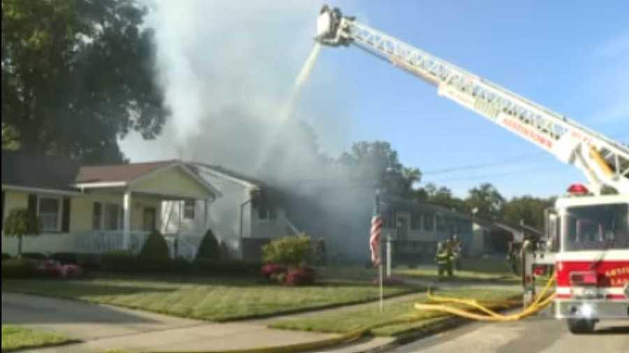 House fire on Kleber Road in Austintown