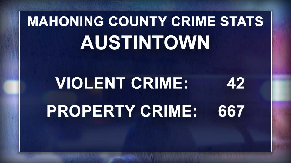 Mahoning County Crime Stats, Austintown, Ohio.