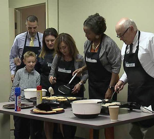 Mahoning County Judges serve pancakes at Pancakes for Pro Bono event