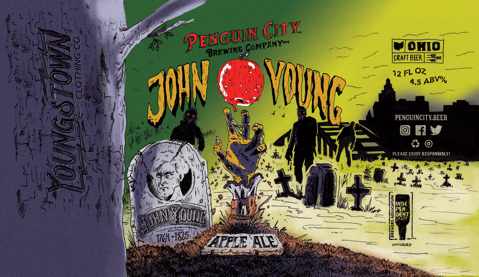 Penguin City Brewing Company and Youngstown Clothing Company have collaborated on a special beer for Youngstown's Zombie Crawl.