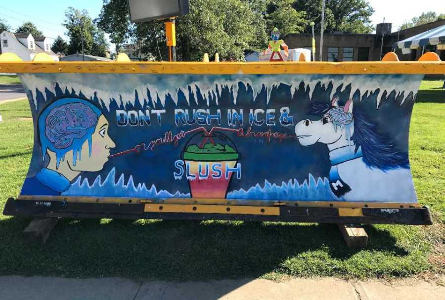 Mercer County students participate in paint the plow contest