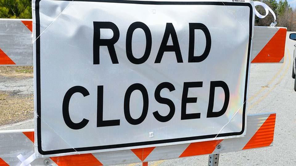 Road closed sign generic