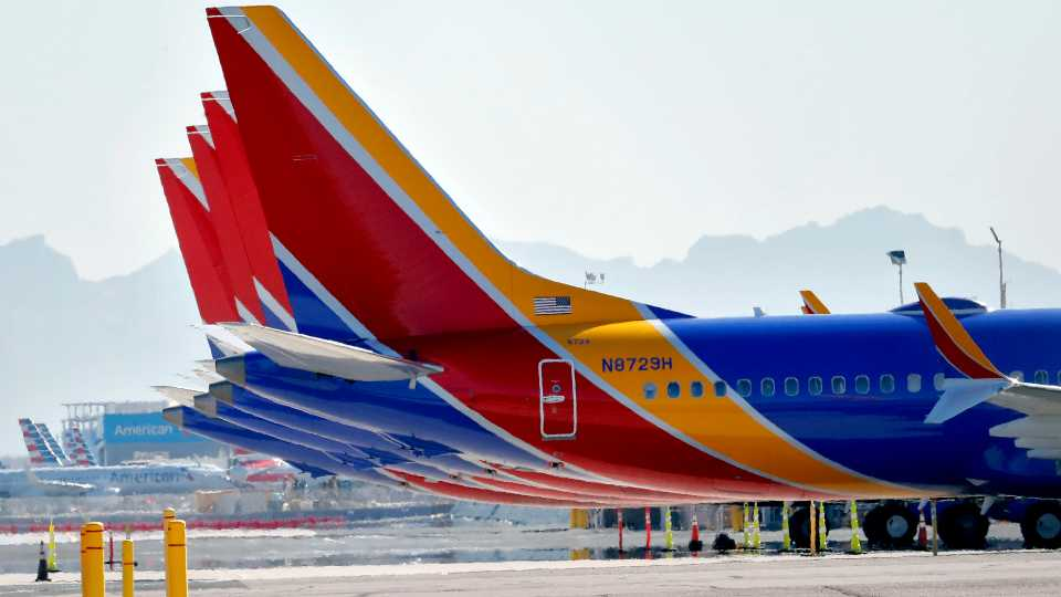 Southwest, American Airlines, Boeing 737 Max plane grounded