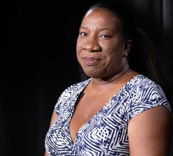 In this Friday, Oct. 11, 2019, photo Tarana Burke, founder and leader of the #MeToo movement, poses for a portrait in New York. Burke is using the second anniversary of the movement to launch a new effort intended to mobilize voters heading into the 2020 election. The new hashtag #MeTooVoter was unveiled Tuesday, Oct. 15 on the same day as the fourth Democratic presidential debate and reflects a frustration among activists that issues of sexual violence and harassment have largely been absent from the debate stage and campaign trail.