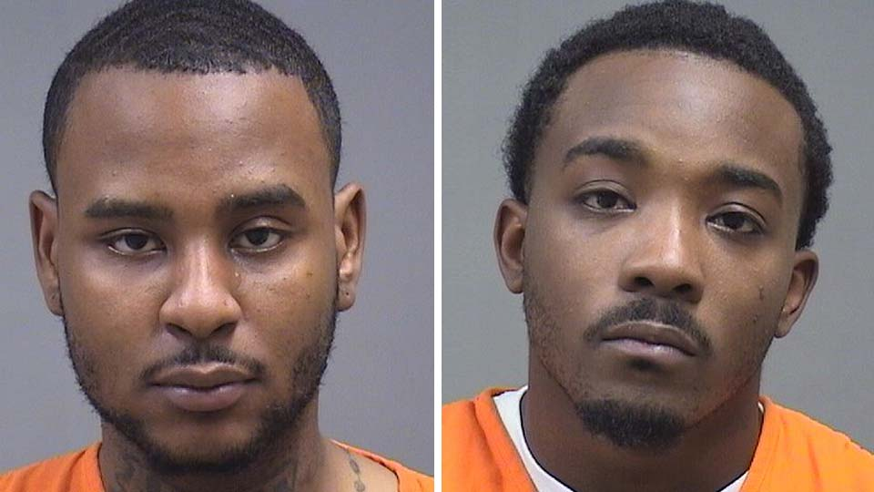 Joseph Haskins, 22, and Tyrell Simms, 26, arrested after drugs were found at a Youngstown home.