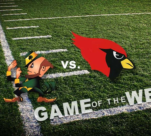 Ursuline Irish vs. Cardinal Mooney Cardinals will face off in the Week 9 addition of the High School Football Game of the Week.