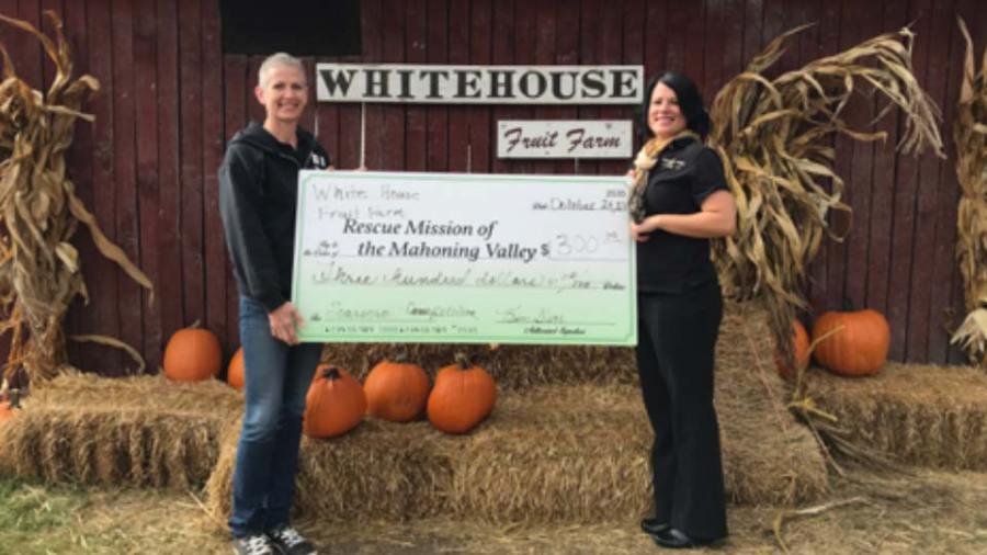 White House Fruit Farm Scarecrow Contest Check Donation