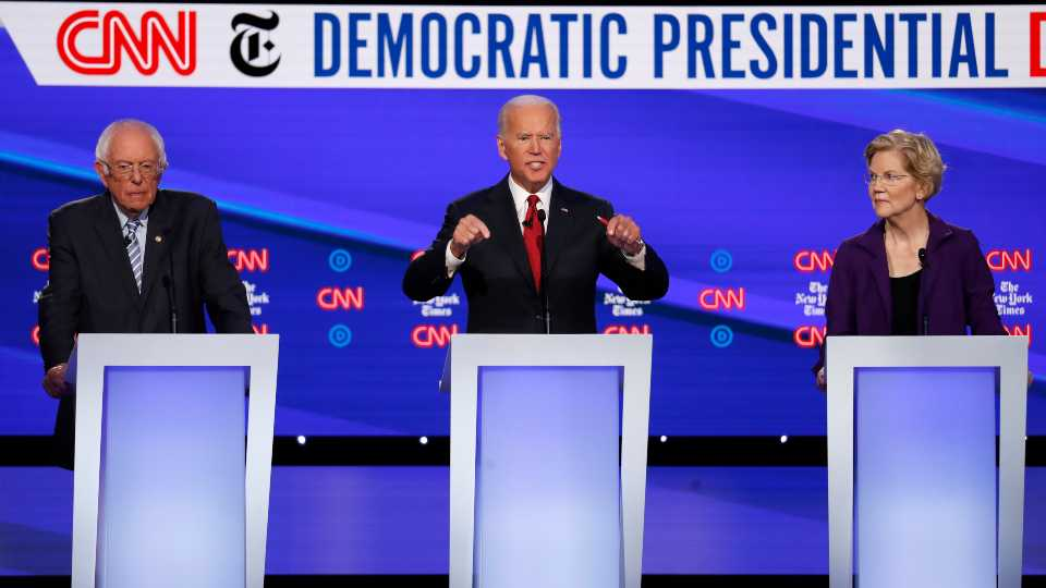 Democratic debate, Bernie Sanders, Joe Biden, Elizabeth Warren
