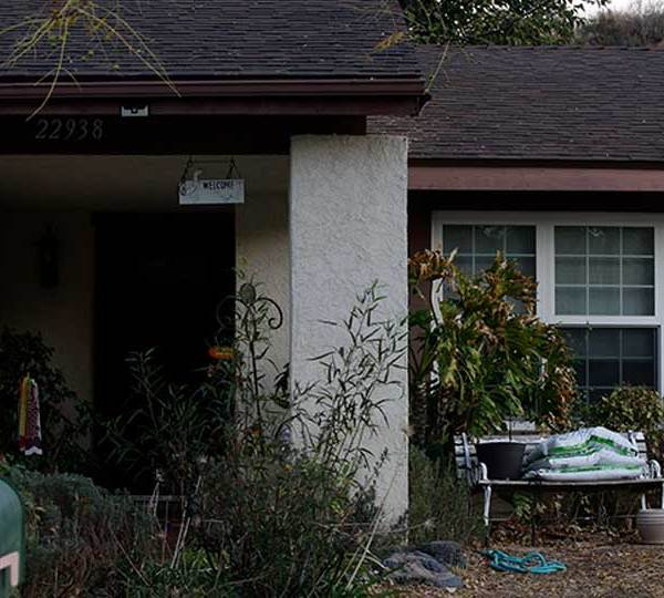 The family home of school shooter is seen in Santa Clarita, Calif., Friday, Nov. 15, 2019. The Los Angeles County Sheriff's Department says Nathaniel Tennosuke Berhow died at about 3:30 p.m. Friday at a hospital with his mother present.