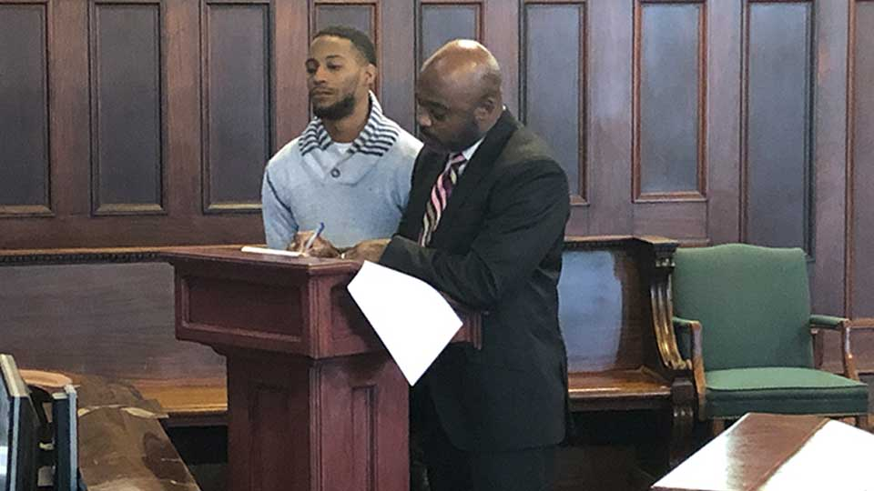 Izaiah Beacham, 24, was sentenced by Judge Maureen Sweeney after he pleaded guilty in October to charges of receiving stolen property, trafficking in cocaine, trafficking in heroin and trafficking in fentanyl and being a felon in possession of a firearm.