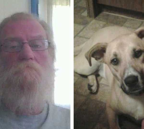 Jeff Flory lost his dog, Spike, in a fire at his Weathersfield Township home