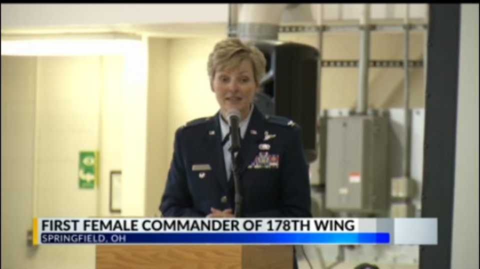 Ohio Air National Guard's 178th Wing has its first female commander Col. Kimberly Fitzgerald
